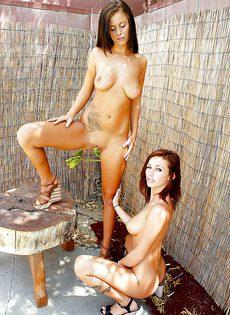 Очаровательные девчонки вылизывают сладенькие дырочки - фото #7