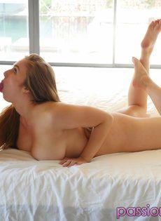Много спермы на больших сиськах Лены Пол (Lena Paul) - фото #7