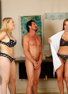 Сучки порадовали подкачанного мужика нуру массажем - фото #3