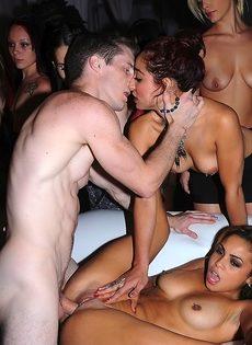 Клубные цыпочки Гилиана Алексис и Мейси Картель принимают участие в групповом сексе - фото #3