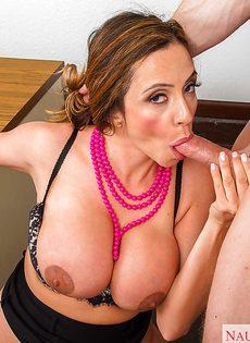 Горячий оральный секс грудастой преподавательницы и заочника - фото #6