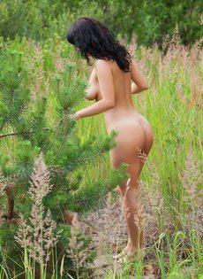 Возбуждающие эротические фотографии обворожительной брюнетки - фото #8