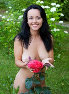 Возбуждающие эротические фотографии обворожительной брюнетки - фото #17