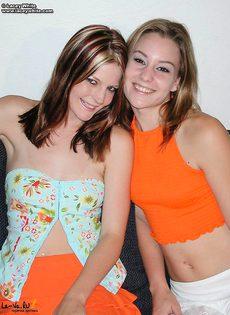 Две девушки облизывают соски - фото #2