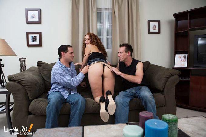 Три мужика трахают бабу, а ее муж снимает » Домашнее ...