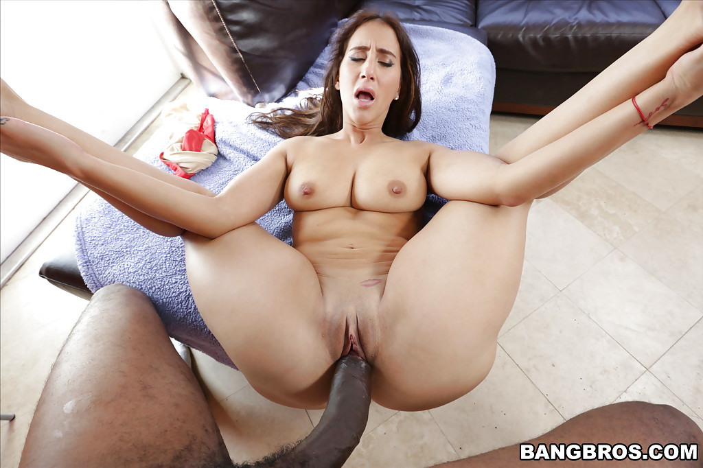 Asian girl eats banana
