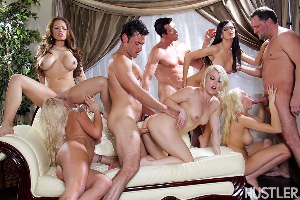 Голливудское секс шоу с начинающими порнозвездами
