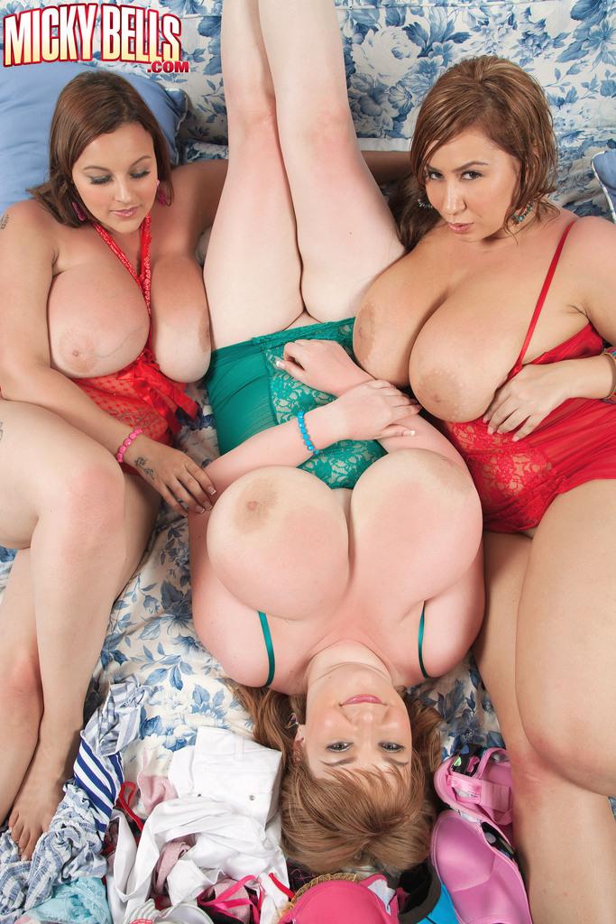 BBW Микки Беллс и ее жирные подруги